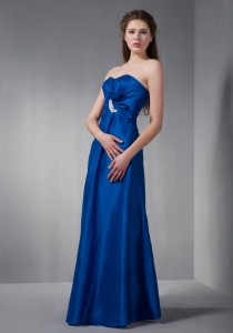Blue Prom Dress Sweetheart Floor-length Taffeta Appliques