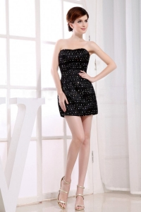 2013 Sweetheart Taffeta Mini-length Prom Dress Black