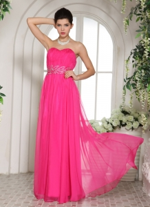 Ruch Beading Column Hot Pink Sweetheart Prom/Celebrity Dress
