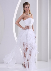 Stylish Ruffles Design Own Prom Dress Beading