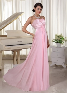 Sweetheart Beaded Evening Dress Baby Pink