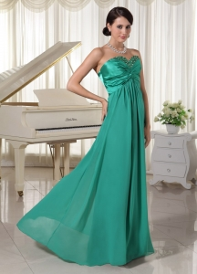 Turquoise Sweetheart Evening Dress Prom Party