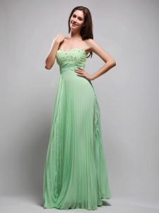 Sweetheart Beading Evening Gown Apple Green
