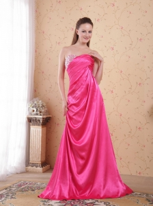 Celebrity Dress Hot Pink Empire Sweetheart Ruch