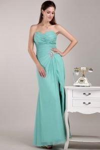 Turquoise Empire Sweetheart Beading Prom Dress