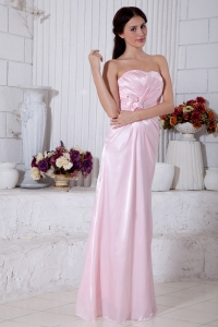 Baby Pink Stweetheart Beading Prom Gown Dress