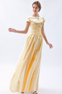 Scoop Floor-length Prom Dress Champagne