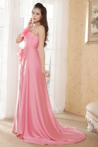 Watermelon Empire Elastic Woven Ruch Prom Dress