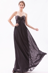 Black Empire Sweetheart Beading Prom Dress