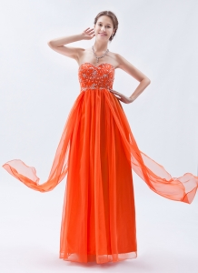 Organge Red Party Dress Sweetheart Prom Dress