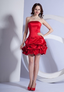 Prom Dress Beading Decorate Bodice Mini-length Strapless