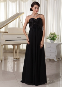 Sweetheart Beaded Black Prom / Evening Dress For Formal Evening