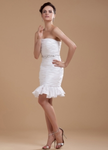 2013 Cocktail Dress With Beaded Taffeta Strapless Mini-length