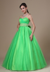 Beaded Decorate Wasit Sweetheart Prom / Evening Dress