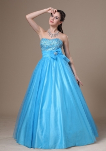 Beading and Bowknot Tulle and Taffeta Prom / Evening Dress