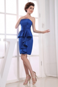 Royal Blue Mother Of The Bride Dress With Mini-length
