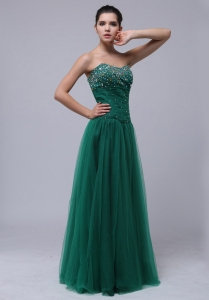 Beaded Decorate Bust For Dark Green Prom Dress