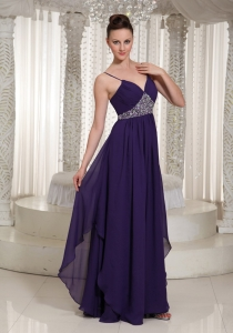 Beaded Decorate Prom Dress For Formal With Spaghetti Straps