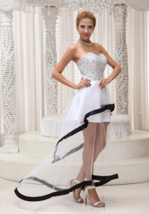 Beaded Up Bodice Sweetheart 2013 Prom / Homecoming Dress White and Black