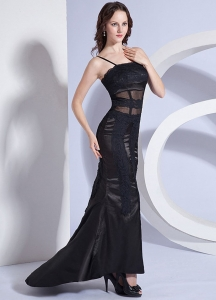 Lace Decorate Bodice Spaghetti Straps 2013 Prom Dress