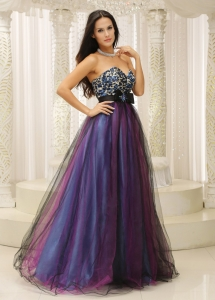Leopard Sweetheart and Belt For Prom Dress Colorful Tulle