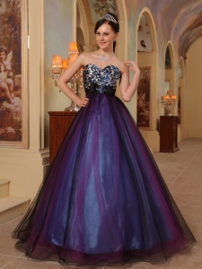 Purple A-line Sweetheart Beading Prom / Pageant Dress
