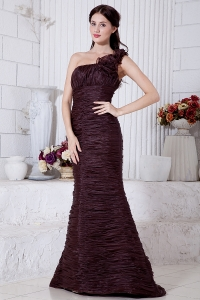 Special Fabric Burgundy Prom / Evening Dress Mermaid