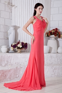 Brush Train Ruch Prom / Evening Dress Watermelon Straps