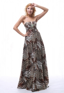 2013 Multi-color Printing Prom Dress For Graduation