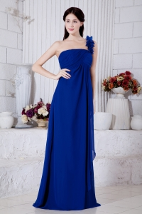 One Shoulder Prom / Evening Dress Royal Blue Brush