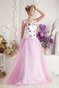 Colorful Prom Dress 2013 A-line Sweetheart Appliques