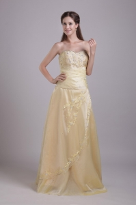 Sweetheart Beading Appliques Prom/Evening Dress Champange