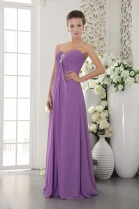 Lavender Beading Prom / Evening Dress Sweetheart Chiffon