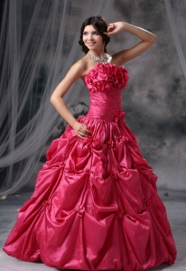 Hand Made Flowers and Pick-ups Ruch Prom Evening Dress