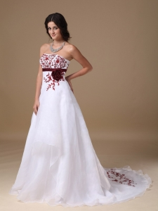 A-line Organza Beading Prom Dress with Hand-made Flower