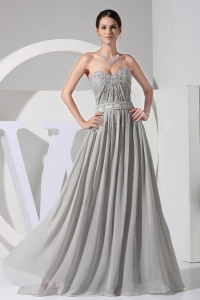 Appliques With Beading Decorate Bodice Prom Dress
