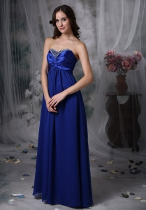 Sweetheart Beading Chiffon and Elastic Woven Satin Prom Dress