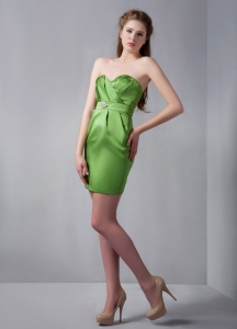 Discount Olive Green Sweetheart Prom Cocktail Dresses