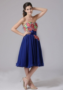 Blue Appliques Sweetheart Cocktail Homecoming Dresses
