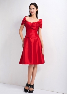 Off the Shoulder Ruch Red Dama Dresses for Quinceanera