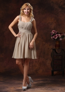 Grey Dama Dresses for Quinceanera With Straps Neckline