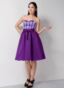 Satin Dama Dresses for Quinceanera Purple Sweetheart