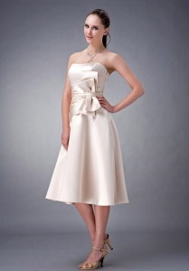 Champagne Ruched Sash Dama Dresses for Quinceanera