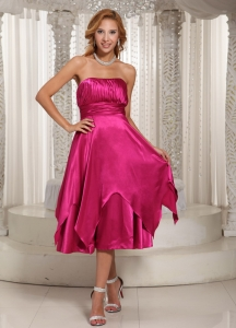 Damas Dresses for Quinceanera Hot Pink Ruching Spring