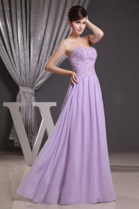 Lilac Beaded Sweetheart Graduation Prom Dresses Ruch