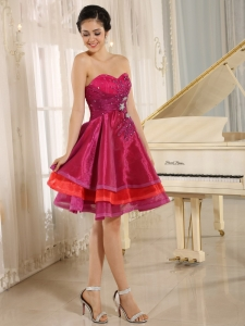 Multi-color Homecoming Cocktail Dresses Sweetheart Beaded