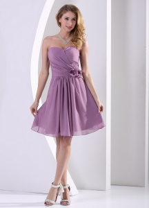 Lavender Dama Dress Sweetheart Hand Made Flower Ruch