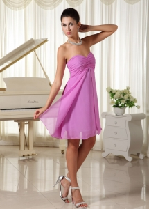 Ruched Sweetheart Dama Dresses for Quinceanera Lavender
