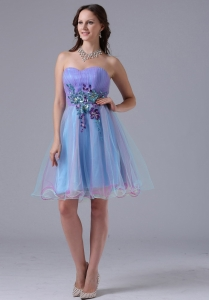 Multi-color Appliques Ruch Cocktail Holiday Dress Sweetheart