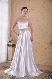 Silver Sweetheart Beading Belt Evening Pageant Dresses